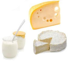 picture of foods containing protein: dairy products