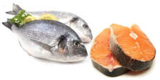 picture of foods containing protein: fish