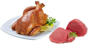 picture of foods containing protein: meat